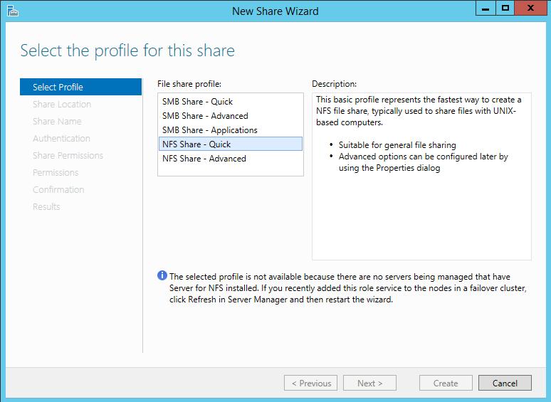 Setting Up NFS Share on Windows