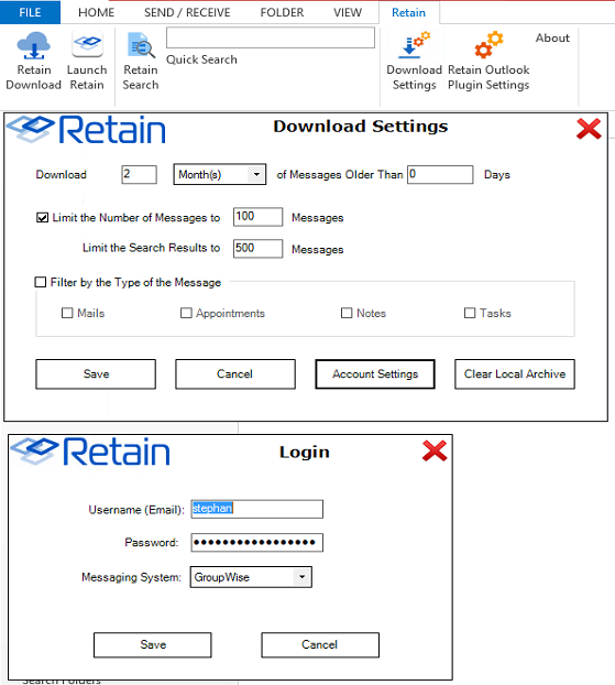 Retain outlook plugin download setting