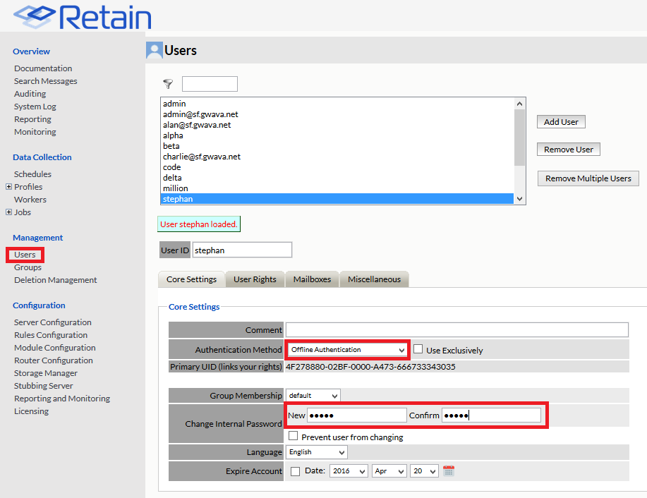 Retain outlook plugin offline authentication