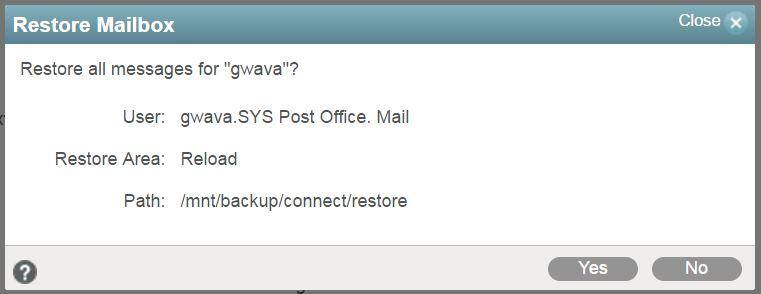Restore Mailbox